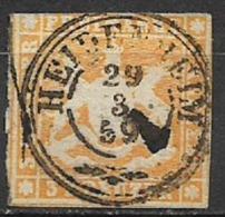 GERMANIA ANTICHI STATI WURTTEMBERG 1857 STEMMA  UNIF. 7 USATO VF - Wurttemberg