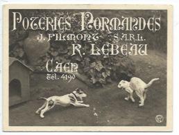 14 - CAEN - POTERIES NORMANDES - R. LEBEAU - DEPLIANT 6 VUES - Caen