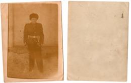 1960s Original 12x9 Old Photo Photography Vintage Soviet Young Soldier Child Boy Schoolboy Uniform Dirk Russia USSR 5643 - Guerra, Militares