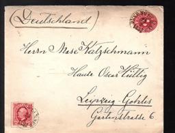 PKXP No. 10.B-NED (= Nässjö – Malmö) Jonkoping > Leipzig Nase Kalzschmann Hause Oscar Hülig Leipzig (233) - Storia Postale
