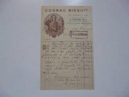VIEUX PAPIERS - FACTURES :Cognac BISQUIT - 1900 – 1949