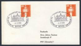 Deutschland Germany 1980 Brief Cover - Tag Der Offenen Tür - Stadt Frankfurt Am Main - Hauptbahnhof / Central Station - Treinen