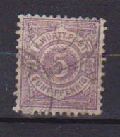 GERMANIA ANTICHI STATI WURTTEMBERG  1875 CIFRA SU FONDO COLORATO UNIF. 45 USATO VF - Wurttemberg