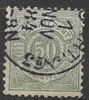 GERMANIA ANTICHI STATI WURTTEMBERG  1875 CIFRA SU FONDO COLORATO UNIF. 49 USATO VF - Wurttemberg