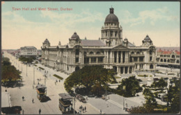 Town Hall And West Street, Durban, Natal, C.1910 - Valentine's Postcard - South Africa