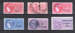 """Lot De 6 """"Timbres Fiscaux"""" - Revenue Stamps"""