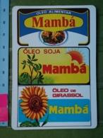 Kal 13 - CALENDAR - PORTUGAL 1987-1989, Sunflower, OIL MAMBA - Kalender