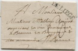 BELGIQUE - DE LIEGE SUR LETTRE AVEC TEXTE POUR LA FRANCE, 1733 - 1714-1794 (Pays-Bas Autrichiens)