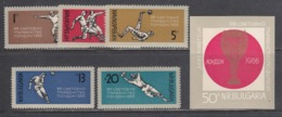 Bulgaria 1966 - Football World Cup In England, Mi-Nr. 1633/37+Block 18, MNH** - World Cup
