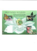 BELGIQUE Pollinisateurs Papillon Insectes Oiseau Mammifère - Kleinbögen