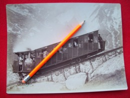 FOTOGRAFIA D'EPOCA LOCOMOTIVA / FUNICOLARE SVIZZERA - Trains