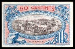 Chambre De Commerce ROANNE - 50 Centimes - 1917 - Pr Neuf - La Loire Et Bateaux - Camera Di Commercio
