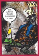 CPM Sucre Satirique Caricature Algérie Jacques LEBAUDY Empereur Du Sahara Non Circulé Tirage Limité 30 Ex. Tortue - Satira