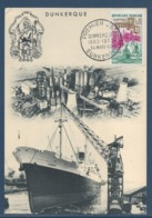 France - Carte Maximum - Dunkerque - Bateau - 1962 - Cartoline Maximum