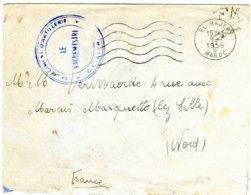 Franchise Militaire: Lettre Affranchie Du Bureau D' EL HAJED (Maroc) - 1956 - Cachets Militaires A Partir De 1900 (hors Guerres)