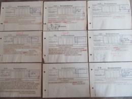 12x Kriegsmarine Telegramm 1944 Marinenachrichtendienst Sperrbrecher Flottille - Briefe U. Dokumente