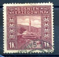 1906 BOSNIA N.42 USATO - Eastern Austria