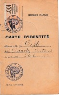 1927 - AIX-en-OTHE (10) - CARTE D'IDENTITÉ Pour Une Femme Italienne - - Documents Historiques