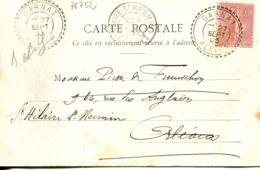 N°76752 -cachet Double Cercle Pointillé De Garnet (Allier) - Storia Postale