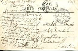 N°76753 -cachet Double Cercle Pointillé De Grury (Saône Et Loire) -1913- - Bolli Manuali