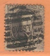 COB 14A D.12 1/2 X 13 1/2 Oblitération OUEST (NIPA + 450) - 1863-1864 Medaillen (13/16)