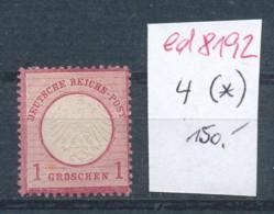 D.-Reich Nr. 4 (*)    .... (ed8192 )  Siehe Scan - Deutschland