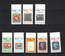 Uganda 1990 Penny Black MNH -(a-19) - Briefmarken Auf Briefmarken