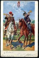 CV3086 MILITARI REGGIMENTALI 18° Reggimento Ussari  Cavalleggeri Di Piacenza, Ill. Q. Cenni, Viaggiata 1902 Per Modena, - Regiments