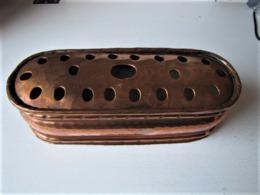 Chauffe-plat En Cuivre Rouge - 22 X 8 X 7 Cm. - C 18 - Cobre