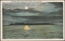 Sleeping Giant, Near Fort William, Ontario, C.1920 - Valentine's Postcard - Ontario