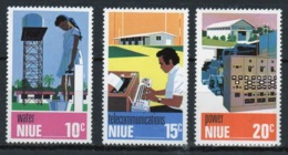 Niue 1976 Set Of Stamps Issued To Celebrate Utilities. - Niue