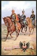 CV3088 MILITARI REGGIMENTALI 18° Reggimento Ussari  Cavalleggeri Di Piacenza, Ill. Cambiè, Non Viaggiata, Ottime Condizi - Regiments