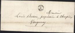1874 Boite Rurale Port Payé Numéraire Uniquement Boite Rurale K Yzeron Distribué Facteur Rural Dans Sa Tournée 68 Rhône - Marcophilie (Lettres)