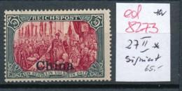 D.-Post In China Nr. 27 II  *  ( Ed8273 ) Siehe Scan - Oficina: China