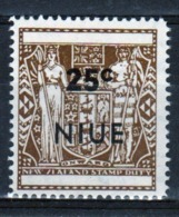 Niue 1967 Single 25c Stamp Taken From The Arms Type Definitive Series. - Niue