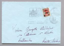 MAURY N°1229 MARIANNE A LA NEF -  S/LSI DU 16/12/1959 - Marcophilie (Lettres)