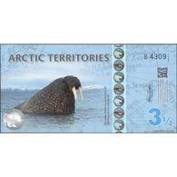 TWN - ARCTIC TERRITORIES - 3½ Polar Dollars 2014 Polymer - Prefix B UNC - Non Classificati