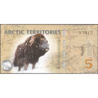TWN - ARCTIC TERRITORIES (private Issue) - 5 Polar Dollars 2012 Polymer - Prefix A UNC - Non Classificati