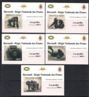 Burundi  2012 OCBn° 2224-2228 ND Ongetand *** MNH Cote 71 Euro Faune Gorilles Gorilla's - 2010-..: Neufs