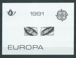 Belgique Feuillet N/B Europa 1991 Neuf - Black-and-white Panes