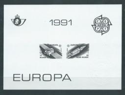 Belgique Feuillet N/B Europa 1991 Neuf - Foglietti Bianchi & Neri