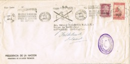 34683. Carta S.O. BUENOS AIRES (Argentina) 1953. Servicio Meteorologico. REEXPEDIDA - Argentina