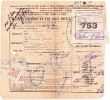 Bulletin D'exp. D'Alger, Pour Chalon-sur-Saône  (années 1920?) - Algeria (1924-1962)