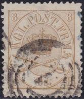 DENMARK 1864 / 8s Bistre Used VF Unif. 14   Catalog Value $ 165 - Usati