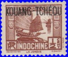 Kouang-Tchéou 1923. ~  YT 100* - 1/2 C. Jonque - Unused Stamps