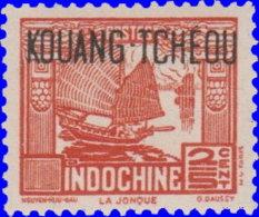 Kouang-Tchéou 1942. ~  YT 140* - 2/5 C. Jonque - Unused Stamps