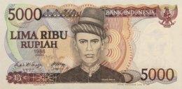 Indonesia 5.000 Rupees, P-125 (1986) - UNC - Indonesia