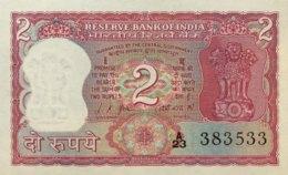 India 2 Rupees, P-67a (1969) - UNC - Sign.76 - India