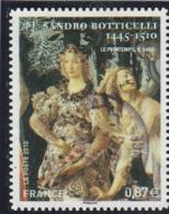 FRANCE 2010 SANDRO BOTTICELLI ADHESIF OBLITERE YT 492 - - France