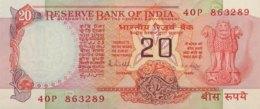 India 20 Rupees, P-82h - UNC - Sign.85 - Indien